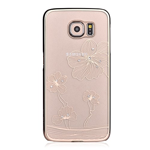 Devia Glimmer Little Style Without Adding Bulk or Covering Beautiful Color for Transparent Thin with Swarovski Elements Diamond Case for Samsung Gal