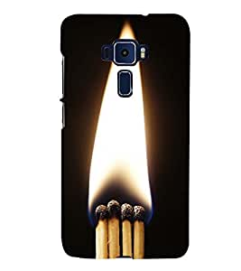 MATCHSTICKS SHOWING THE PURITY OF A FLAME 3D Hard Polycarbonate Designer Back Case Cover for Asus Zenfone 3 ZE552KL::Asus Zenfone 3 (5.5 INCHES)