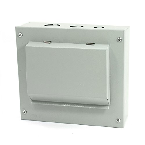 Rectangular Gray Electrical Power Distribution Box Protect Cover Guard