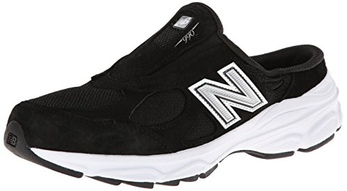 New Balance Women's W990 Slide Shoe,Black,9 D US