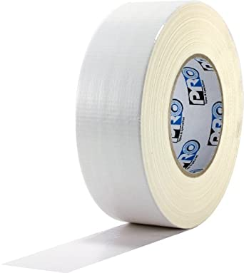 """ProTapes Pro Duct 120 PE-Coated Cloth Premium Industrial Grade Duct Tape, 60 yds Length x 2"""" Width, White (Pack of 24)"""