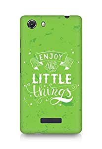 AMEZ enjoy the little things 2 Back Cover For Micromax Unite 3