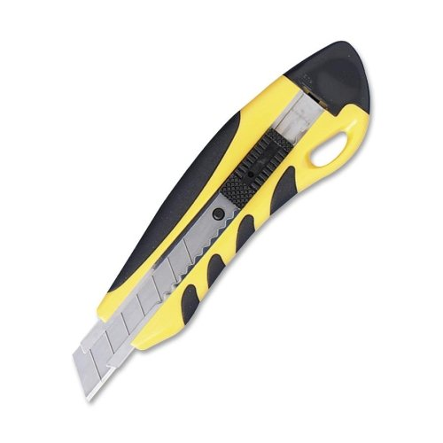 Sparco Pvc Grip Knife, Stainless Steel Chamber, Yellow/Black (Spr15851)