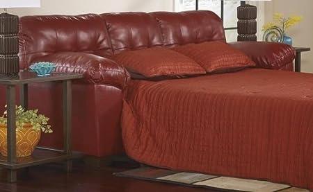 Ashley Furniture Alliston DuraBlend Queen Sleeper Sofa in Salsa