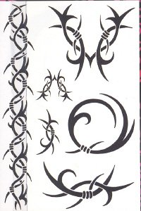 Buy Body Prints Jumbo Temporary Tattoos, Razor's Edge Style