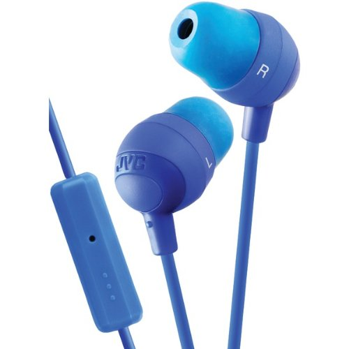 Jvc Hafr37A Marshmallow(R) Inner-Ear Earbuds With Microphone & Remote (Blue) (Hafr37A)