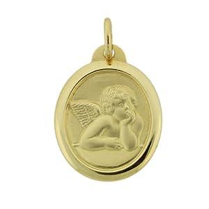 14K Yellow Gold Angel Medal