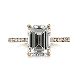 Mark Broumand 2.96ct Emerald Cut Diamond Engagement Ring