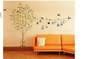 Sticker mural auto collant cadre oiseaux arbre deco maison for Collant mural francais