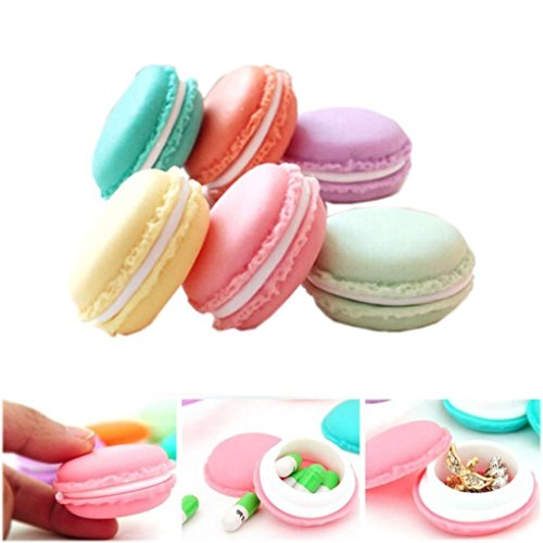 Buy Perfect shopping 6 pcs/lot cute mini Macaron storage box portable candy organizer pill case jewe...