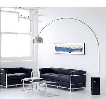 lampe arco pied en marbre noir design neuve livraison gratuite luminaires et eclairage. Black Bedroom Furniture Sets. Home Design Ideas