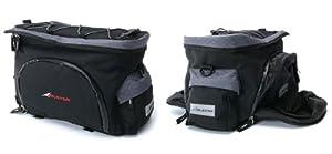 Avenir Fold Out Side Pannier Rack Bag - Black, 10/20 Litres