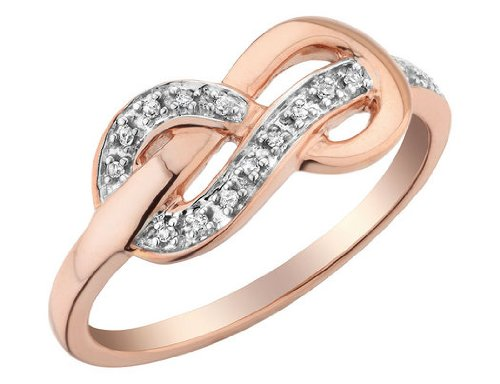 Diamond Infinity Ring in 10K Pink Gold