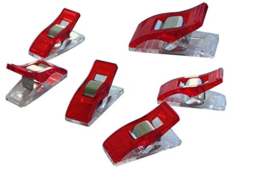 Buy URBEST®Wonder Clips, Paper Clips, Blinder Clips, Multi-purpose Clips, 100 Pack, Red (100pcs)