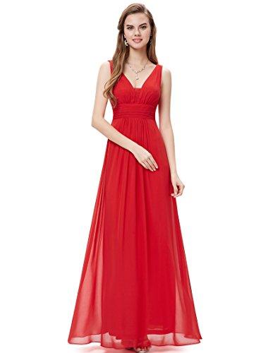 Ever Pretty Womens Sleeveless Empire Waist Long Maxi Dress 8UK Vermilion