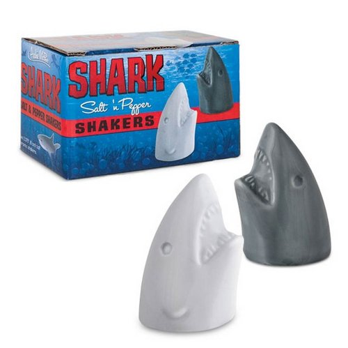 Shark Ceramic Salt and Pepper Shakers