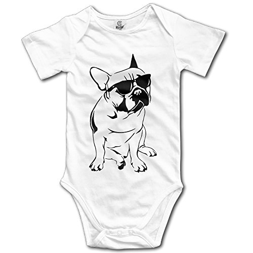 Love Baby Cool French Bulldog With Sunglasses Summer Baby Onesie Clothing (French Bulldog Onesie compare prices)