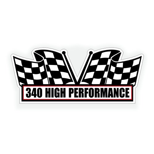 Air Cleaner Engine Decal - 340 High Performance For Dodge Dart Mopar Classic Muscle Car - 5x2.25 inch (Dodge Dart Window Decal compare prices)