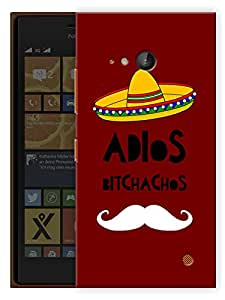 """Humor Gang Adios Bitchachos Moustache Taco Man Printed Designer Mobile Back Cover For """"Nokia Lumia 730"""" (3D, Matte, Premium Quality Snap On Case)"""