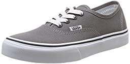 Vans Kids Authentic Pewter/Blk Skate Shoe 4 Kids US