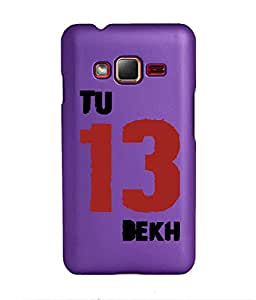 KolorEdge Back Cover For Samsung Z1 - Purple (1413-Ke15071SamZ1Purple3D)