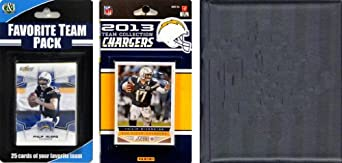 NFL San Diego Chargers Licensed 2013 Score Team Set and Favorite Player Trading Card... by C&I Collectables