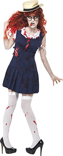 [Smiffys Women's High School Horror Zombie College Student Costume] (High School Zombie Costumes)