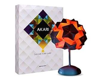 AKARI 3 LED fai da te Origami Lampada da tavolo (Bianco): Amazon.it ...