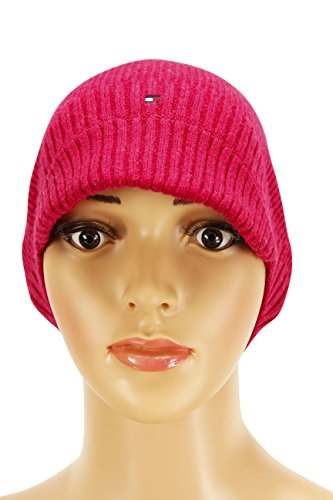 Tommy Hilfiger Mens Beanie Size Universal US - Pink Wool (Tommy Hilfiger Caps For Men compare prices)