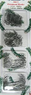 300pc. Silver Christmas Ornament Hooks