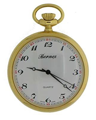 Bernex Pocket Watch GB21102 Gold Plated Open Face
