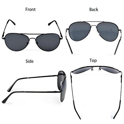 40b74859e Duduma Premium Full Mirrored Aviator Sunglasses w/ Flash Mirror Lens Uv400  (Black frame/smoke lens)