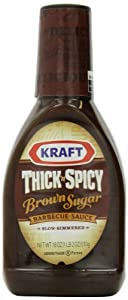 Kraft Thick and Spicy Brown Sugar Barbecue Sauce, 18 Ounce Bottle