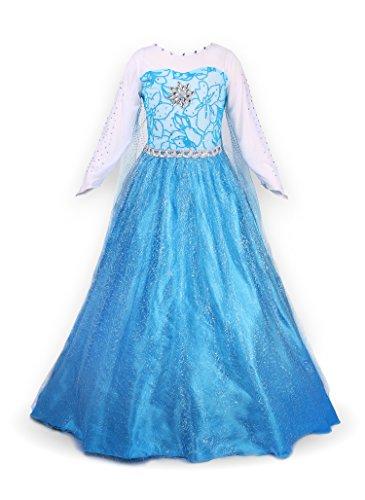 Mädchen Prinzessin Schneeflocke Süßer Ausschnitt Kleid Kostüme