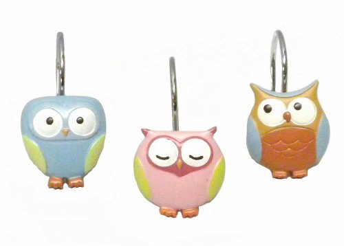 Hooty Owl Shower Curtain Hooks