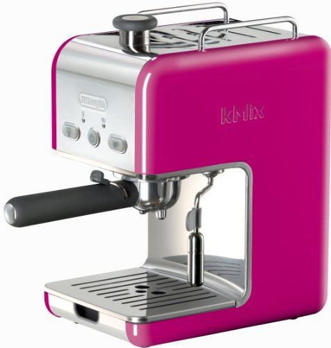 Find Bargain DeLonghi Kmix 15 Bars Pump Espresso Maker, Magenta