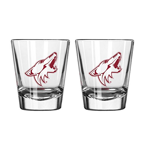 NHL Arizona Coyotes Game Day Shot Glass, 2-ounce, 2-Pack