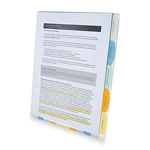 Wilson Jones View-Tab Professional Sorter, 5 Tabs, Letter Size, Multi-Color (W55120)