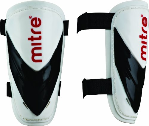 Mitre Mayan Slip Shinguard - White/Black/Red,