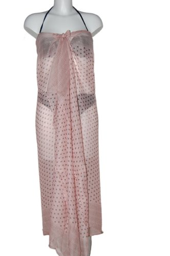 Tamari Light Pink Polka Dot Sarong Beach Cover Up Wrap Dress One Size