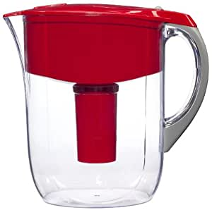 Brita Grand Water Filter Pitcher, Red,  10 Cup