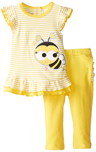 NUBY Baby-Girls Infant 2 Piece Legging Set Baby Bee