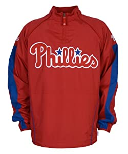 MLB Philadelphia Phillies Convertible Cool Base Gamer Jacket by Majestic