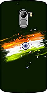 Dot Print India Flag Printed Back Cover For Lenovo Vibe K4 Note