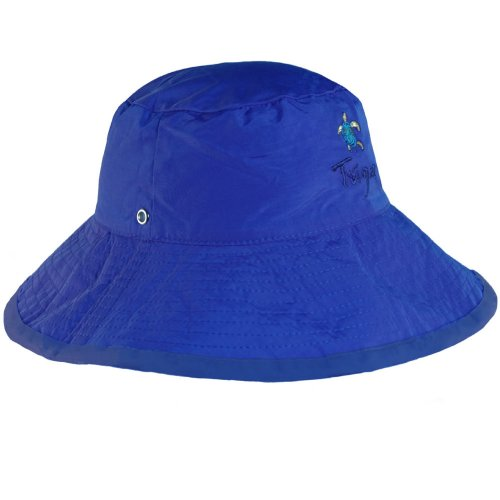 Boys Solid Blue Reversible UV Sun Protective Bucket Hats (UPF 50+)