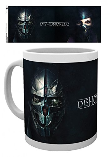 Set: Dishonored, 2, Faces Tazza Da Caffè Mug (9x8 cm) E 1 Sticker Sorpresa 1art1®