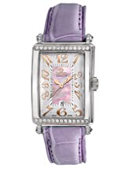 Gevril Women's 7248RT.14A Pink Mother-of-Pearl Genuine Alligator Strap Watch