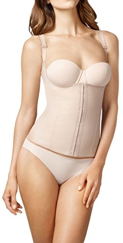 Squeem Firm Compression Miracle Vest Shapewear, Beige, XL