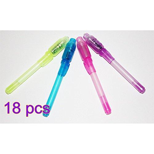 ankko-18-pezzi-evidenziatori-uv-marcatori-inchiostro-invisibile-penne-led-con-luce-uv