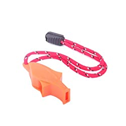 Generic Outdoor Survival Bright Orange Dolphin Safety Whistle Emergency Whistle